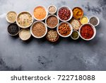 superfoods and cereals... | Shutterstock . vector #722718088