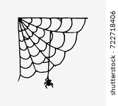 spider web with spider for post ... | Shutterstock .eps vector #722718406