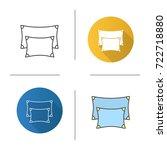 pillows icon. flat design ... | Shutterstock .eps vector #722718880