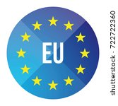 eu logo   european union button | Shutterstock .eps vector #722722360