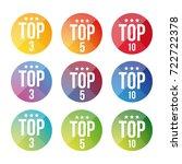 top ten  five  three button | Shutterstock .eps vector #722722378