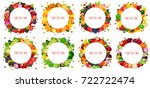 round label with fruits ...   Shutterstock .eps vector #722722474