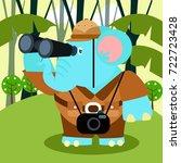 animal safari series. cute... | Shutterstock .eps vector #722723428
