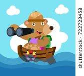 animal safari series. cute... | Shutterstock .eps vector #722723458
