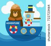 animal safari series. cute... | Shutterstock .eps vector #722723464