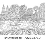 adult coloring page book  a... | Shutterstock .eps vector #722723710
