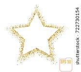 golden star vector banner on... | Shutterstock .eps vector #722730154