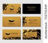 branding for salon eyelash... | Shutterstock .eps vector #722731549