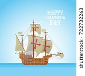 happy columbus day national usa ... | Shutterstock .eps vector #722732263