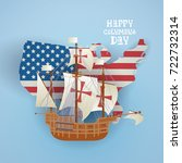 happy columbus day national usa ...   Shutterstock .eps vector #722732314