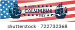 happy columbus day national usa ...   Shutterstock .eps vector #722732368