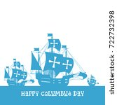 happy columbus day national usa ...   Shutterstock .eps vector #722732398