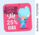 halloween sale poster holiday... | Shutterstock .eps vector #722732500