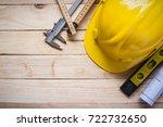 tool kit construction planning... | Shutterstock . vector #722732650