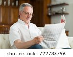 portrait of a mature man... | Shutterstock . vector #722733796