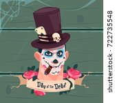 day of dead traditional mexican ... | Shutterstock .eps vector #722735548