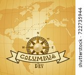 happy columbus day national usa ...   Shutterstock .eps vector #722735944