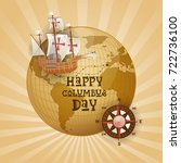 happy columbus day national usa ...   Shutterstock .eps vector #722736100