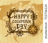 happy columbus day national usa ...   Shutterstock .eps vector #722736124