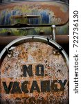 no vacancy motel sign and... | Shutterstock . vector #722736130