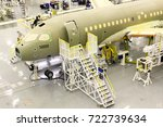 Small photo of December 18, 2015-Mirabel: Canada:Bombardier C-Series jet assembly line. September 26, 2017 the United States imposed a 220 per cent duty on planes