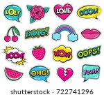 modern colorful patch set on... | Shutterstock .eps vector #722741296