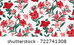 seamless floral pattern in... | Shutterstock .eps vector #722741308