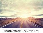 vintage toned picturesque road...