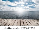 dock at beautiful sea | Shutterstock . vector #722745910