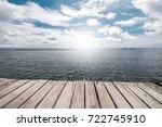 dock at beautiful sea | Shutterstock . vector #722745910