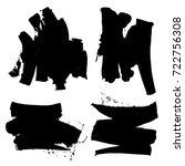 grunge textures. set of brush... | Shutterstock .eps vector #722756308