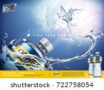 sport drink ads  energetic... | Shutterstock .eps vector #722758054