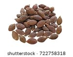 pile of malva nuts isolated on... | Shutterstock . vector #722758318