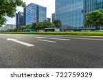 city empty traffic road with... | Shutterstock . vector #722759329