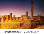 the famous antique site of... | Shutterstock . vector #722760274