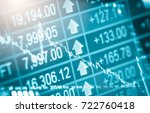 stock market or forex trading... | Shutterstock . vector #722760418