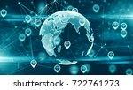 gps location services iot cloud ... | Shutterstock . vector #722761273
