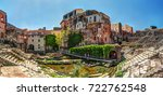 ancient roman theater in... | Shutterstock . vector #722762548