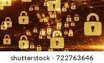 secure global financial network ... | Shutterstock . vector #722763646