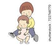 vector illustration of two... | Shutterstock .eps vector #722768770