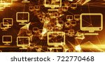 cloud computing internet of... | Shutterstock . vector #722770468