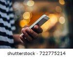 selective soft focus.man... | Shutterstock . vector #722775214