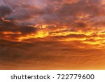 very beautiful clouds and a ray ... | Shutterstock . vector #722779600
