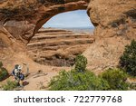 hiking partition arch  devil's... | Shutterstock . vector #722779768