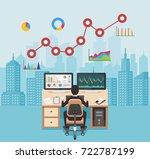 business analyst. businessman... | Shutterstock .eps vector #722787199