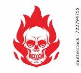 Skull Mascot Biker Road Rider...