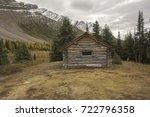 halfway hut  vintage landmark... | Shutterstock . vector #722796358