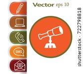 flat icon. telescope. | Shutterstock .eps vector #722798818