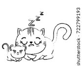 cat icon image | Shutterstock .eps vector #722799193