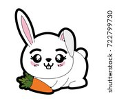 rabbit animal icon | Shutterstock .eps vector #722799730